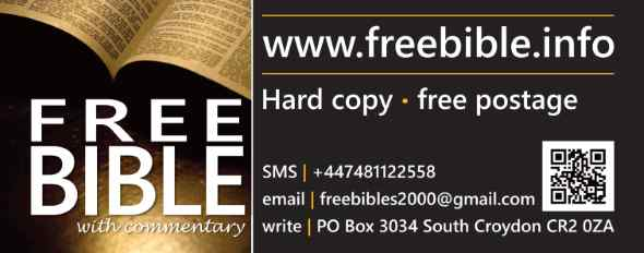 Get a free Bible